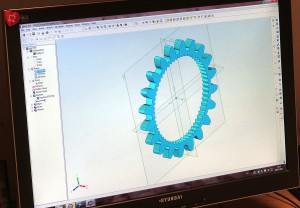 Gear Cutting Designed on Dolphin CAD